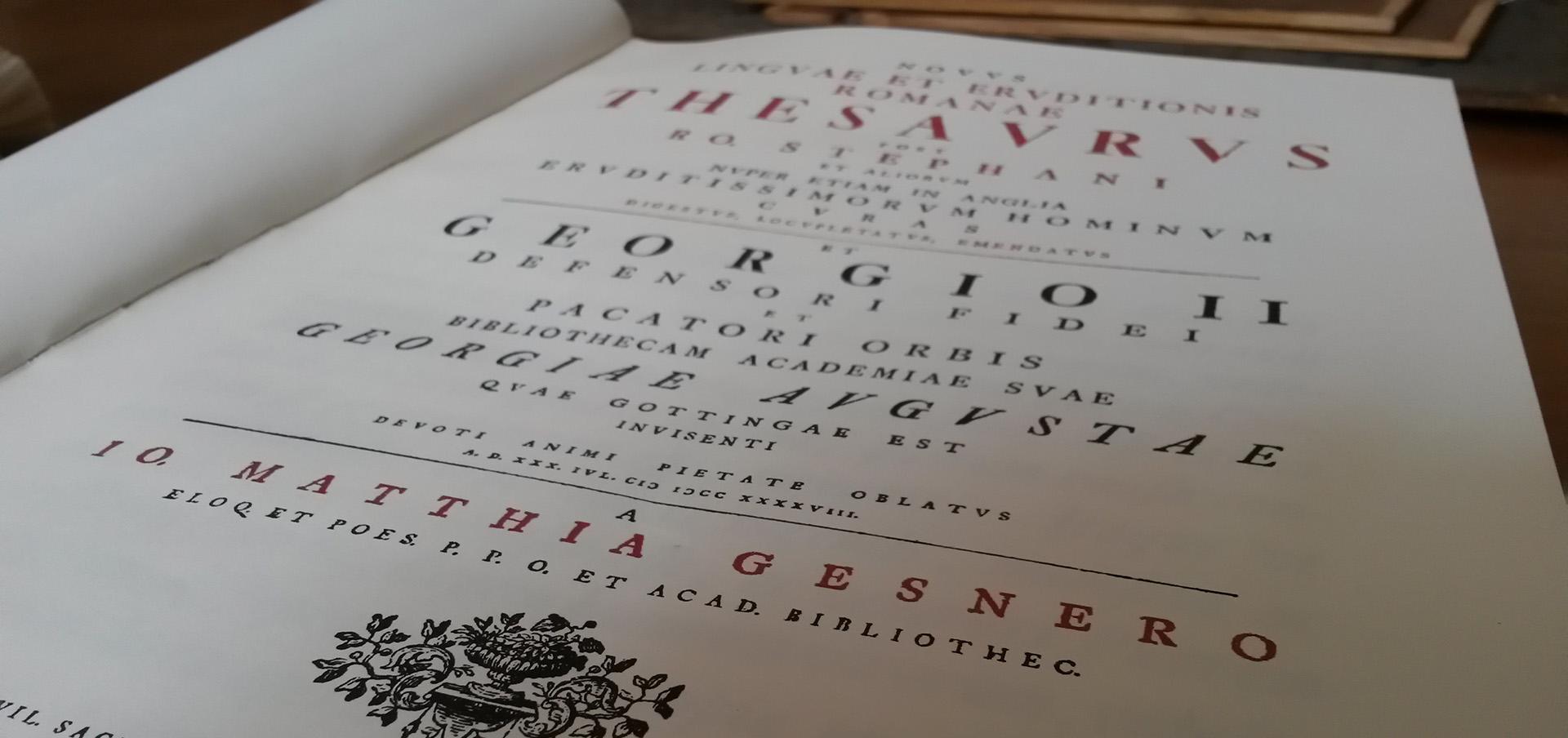 Novus linguae et eruditionis Romanae thesaurus